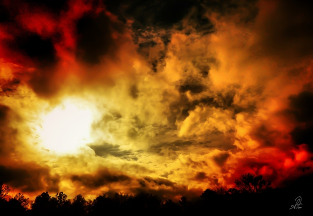 Sun Behind Storm Clouds
