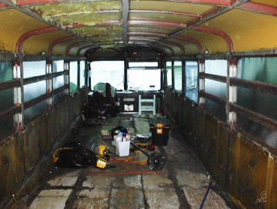 MCI Bus Conversion Before Shot