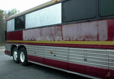 MCI Bus Conversion Before Painting