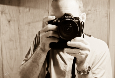 Self Portrait of My First Nikon D100 DSLR Camera
