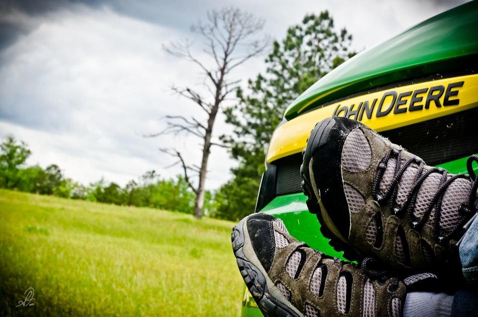 Friday Feet on the John Deere Tractor