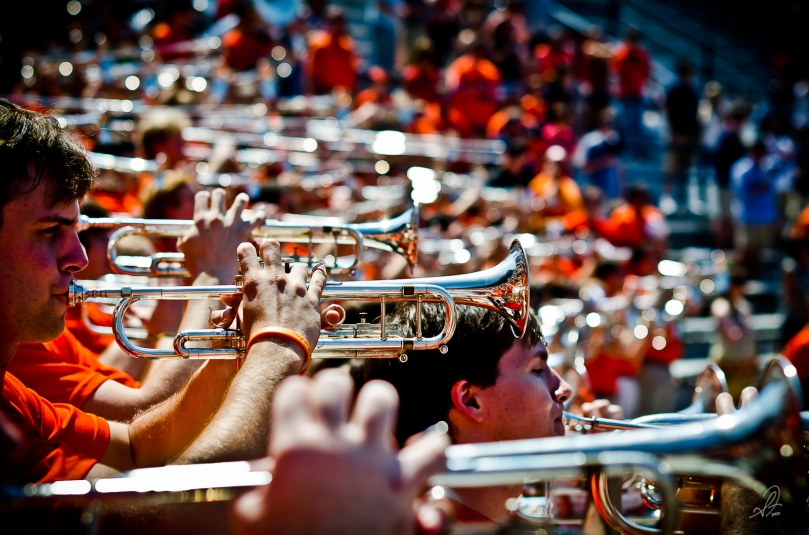 Auburn Tigers Aday Game 2012 Marching Band Trumpets