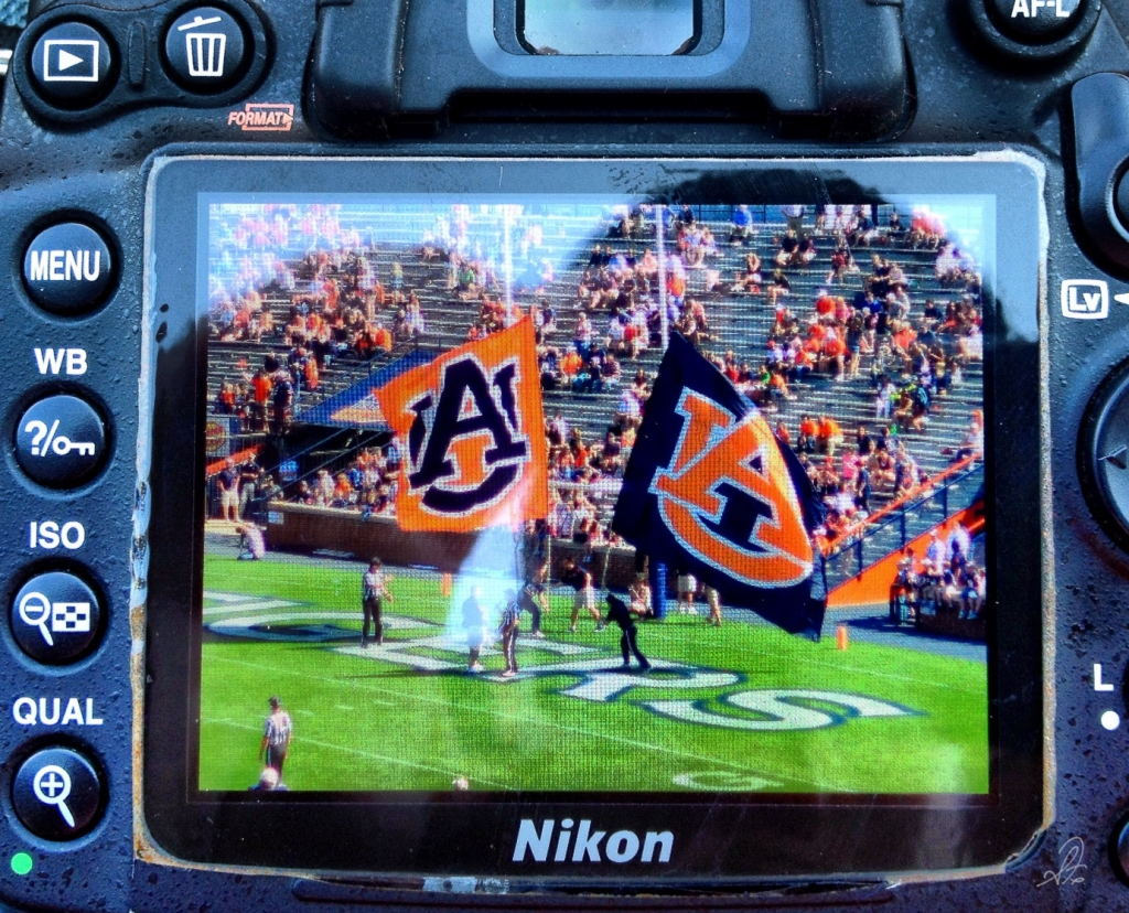 iPhone Shot of the Nikon DSLR Shot of a Auburn TD