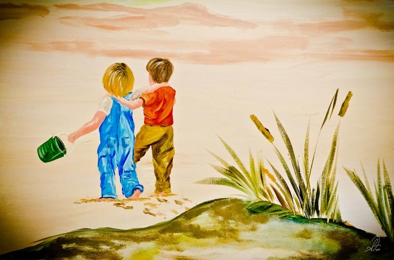 Murals by Cindy Massey at Cornerstone Church