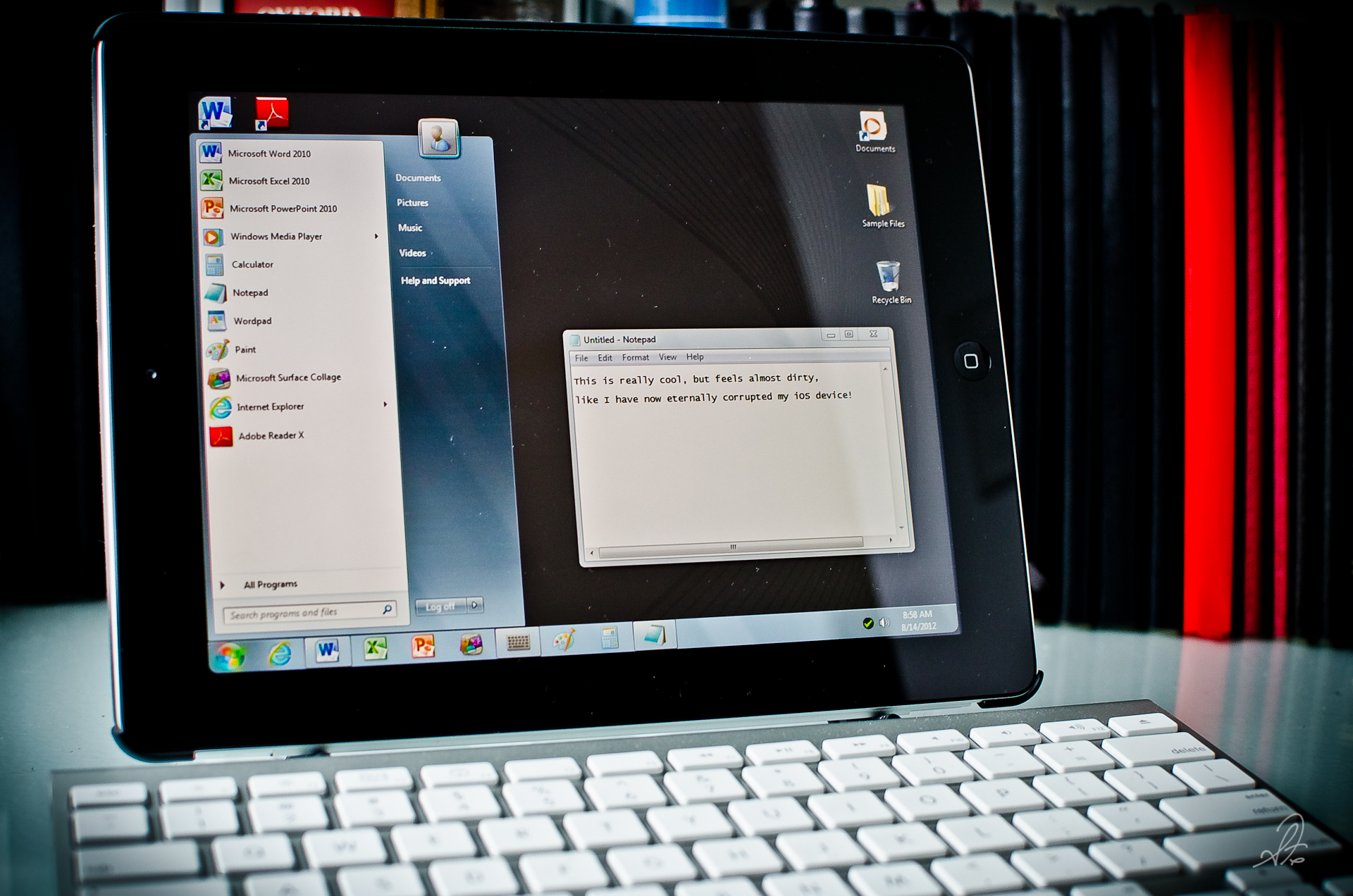 Running Windows 7 on an iPad iOS Device