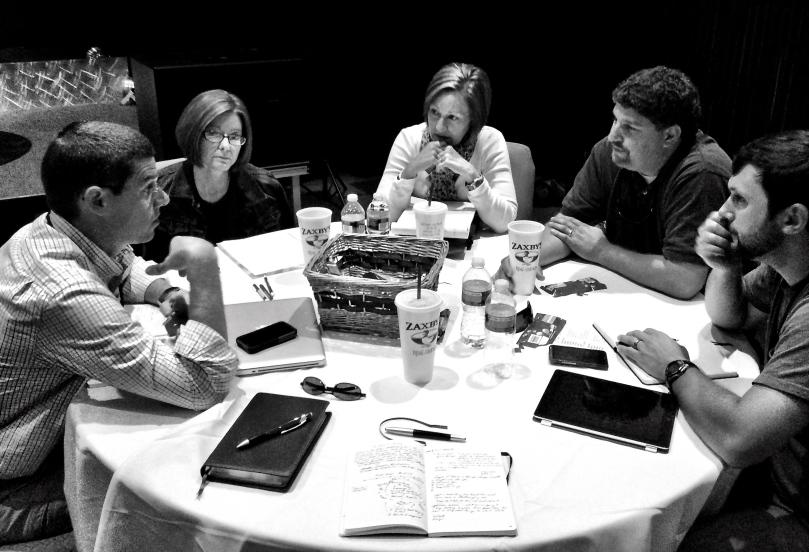 Cornerstone Church Staff Discussing Discipleship at 3DM