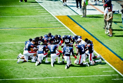 Prayer Prior to Auburn Tigers Football vs ULM 2012