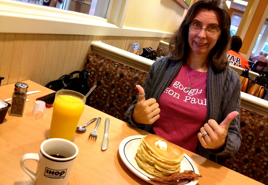 Deborah and Her Pancakes at IHop in Auburn