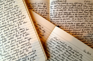 Writing Sample of Moleskine Journals