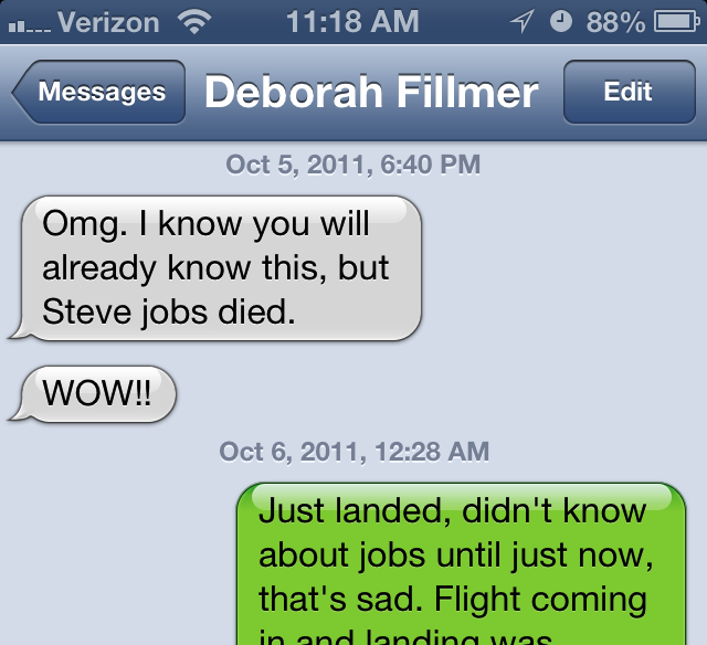 Text Message From Deborah