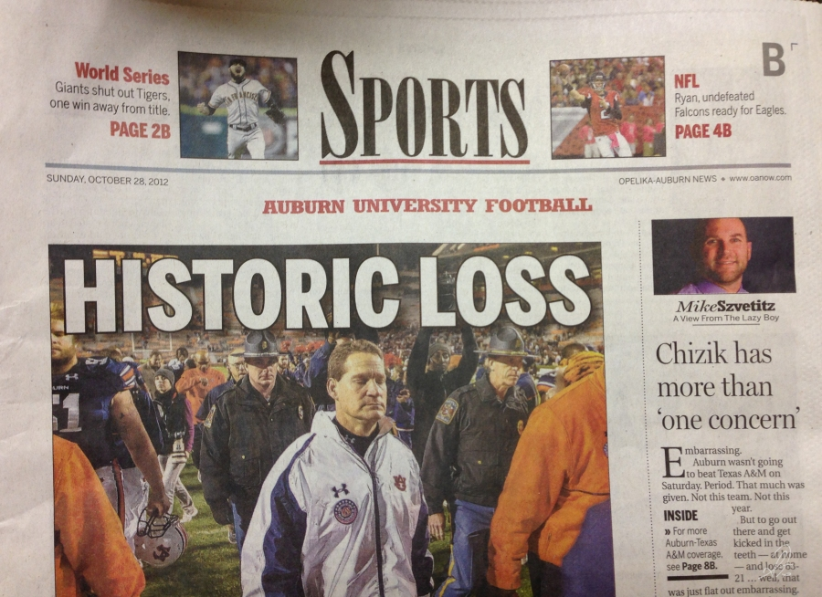 Front Cover of the OANews Sports Section