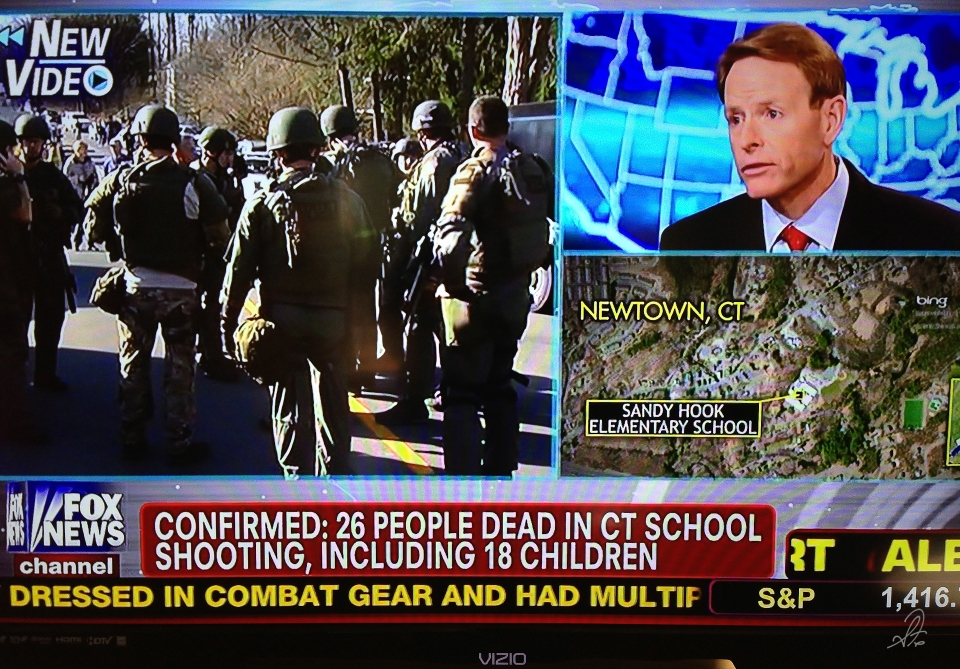 News Reports of the Shooting a Newtown Elementary School