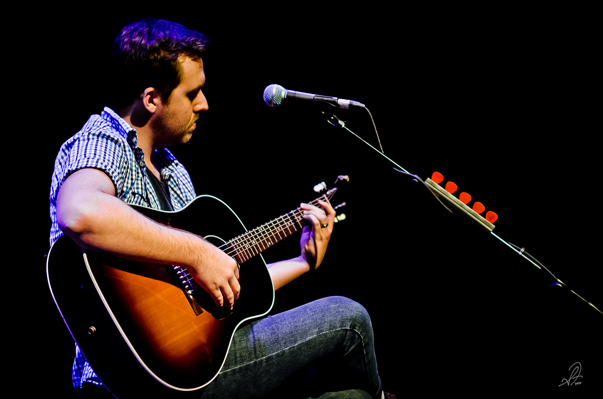 Dustin Adams Playing Guitar Scott Fillmer