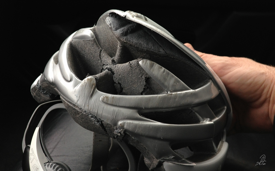 Broken Trek Cycling Helmet