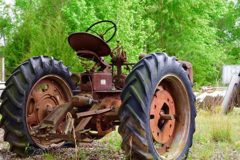 Rusted Tractor in the Pasture