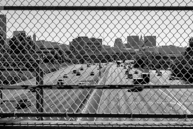 Overlooking an Atlanta Freeway