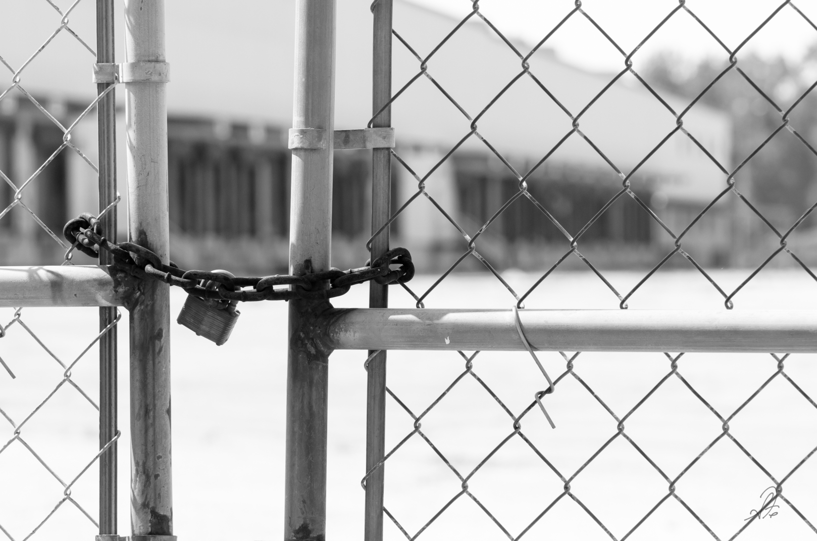 Old Factory Gate Locked