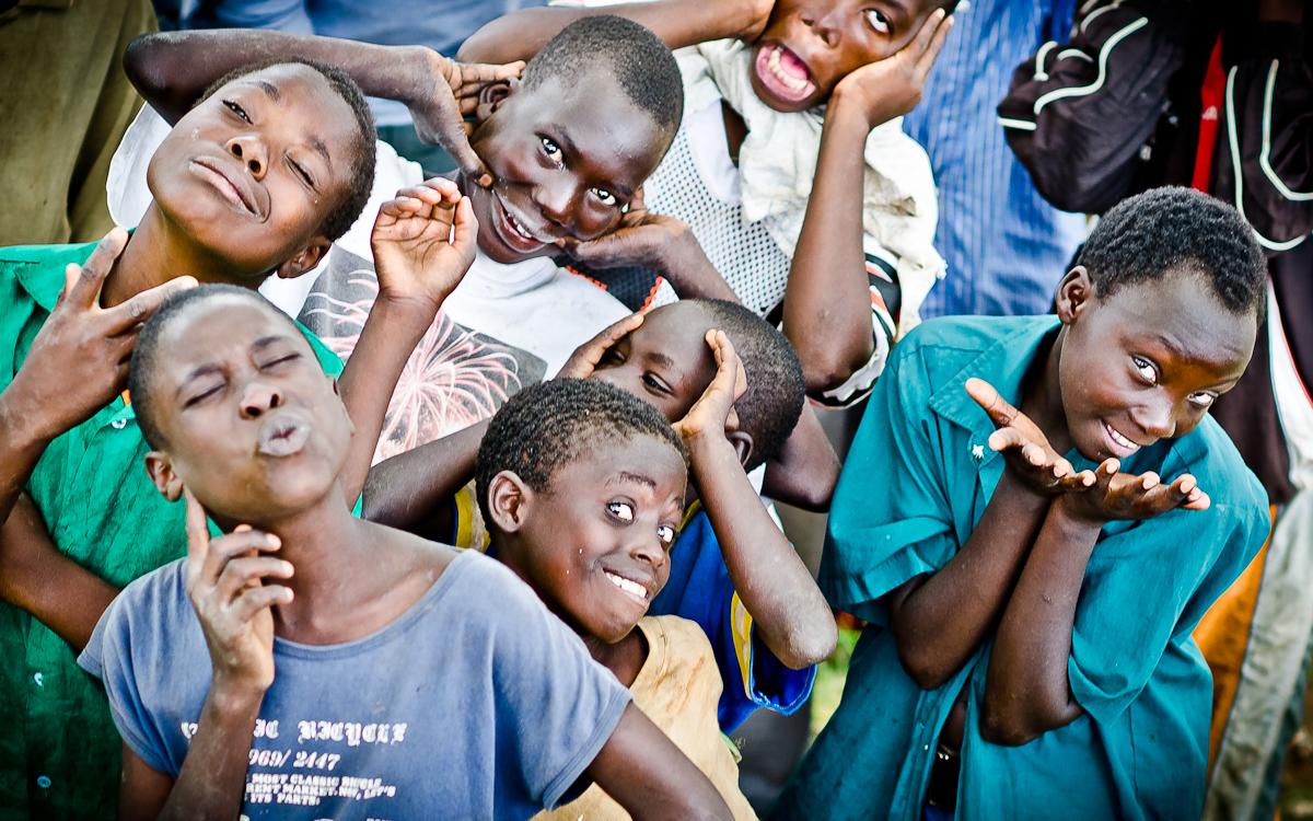 Uganda Kids Plays for the Camera