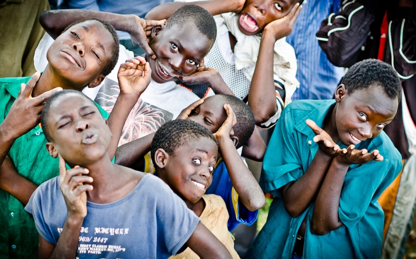Uganda Kids Plays for the Camera
