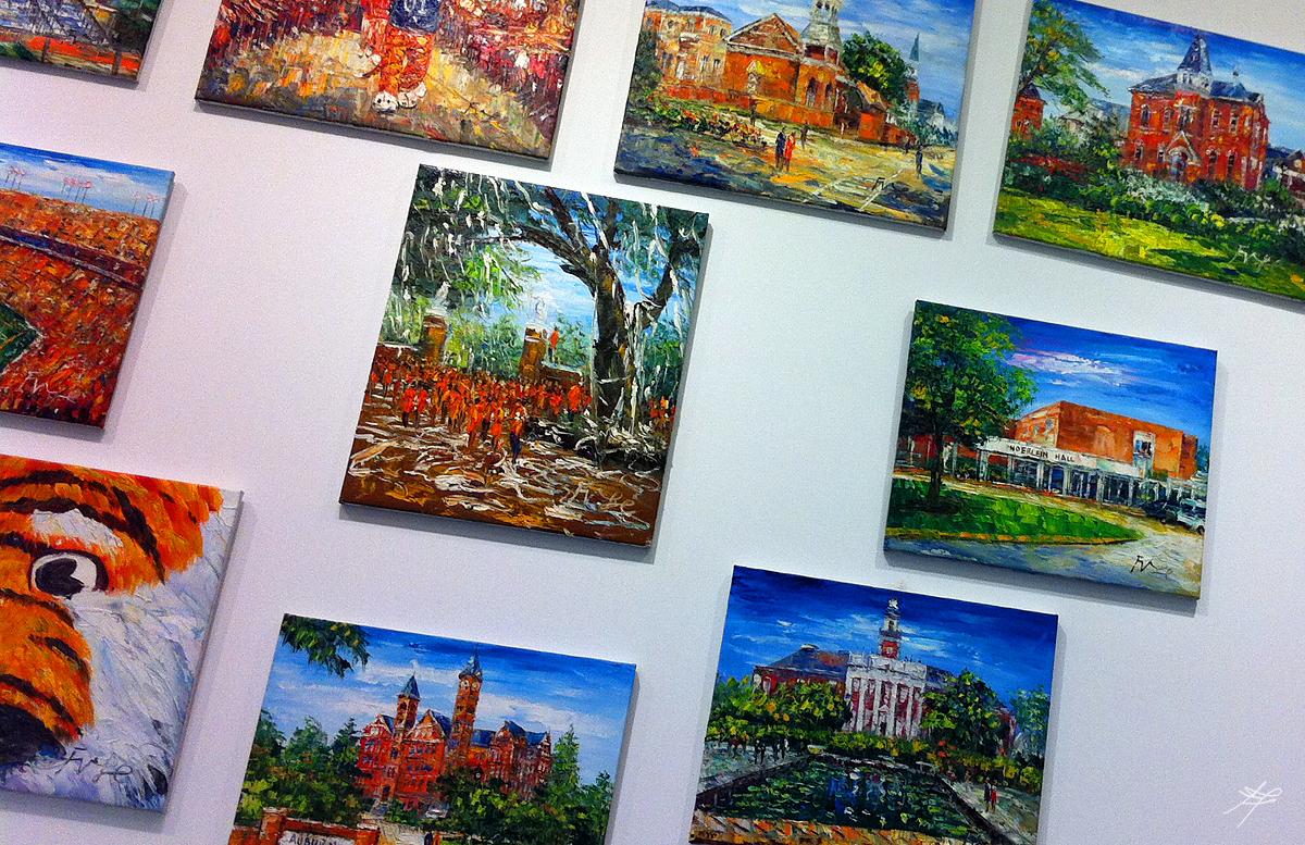 Painting of Auburn at Publix