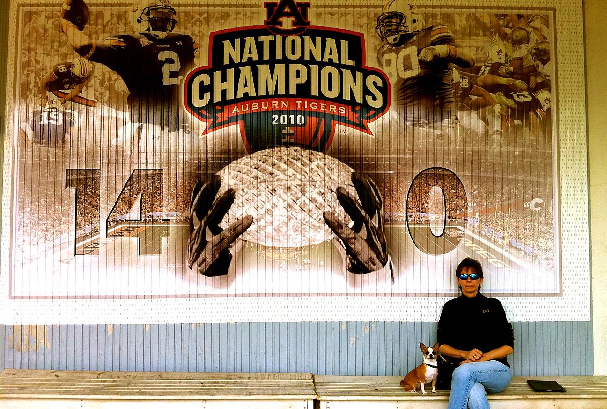 National Championship Outside Toomer's Corner Drugs