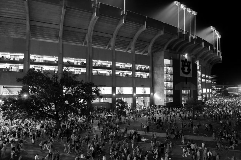 Jordan-Hare Stadium at Night
