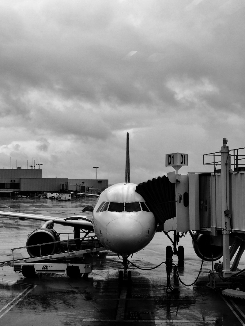 Atlanta Airport at the Gate in the Rain Shot on an iPhone 7 Plus